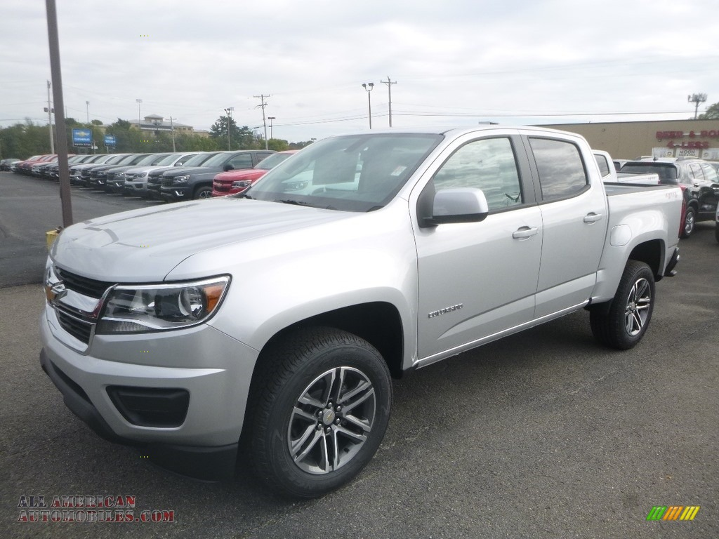 Silver Ice Metallic / Ash Gray/Jet Black Chevrolet Colorado WT Crew Cab 4x4