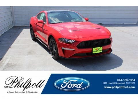 Race Red 2019 Ford Mustang EcoBoost Fastback