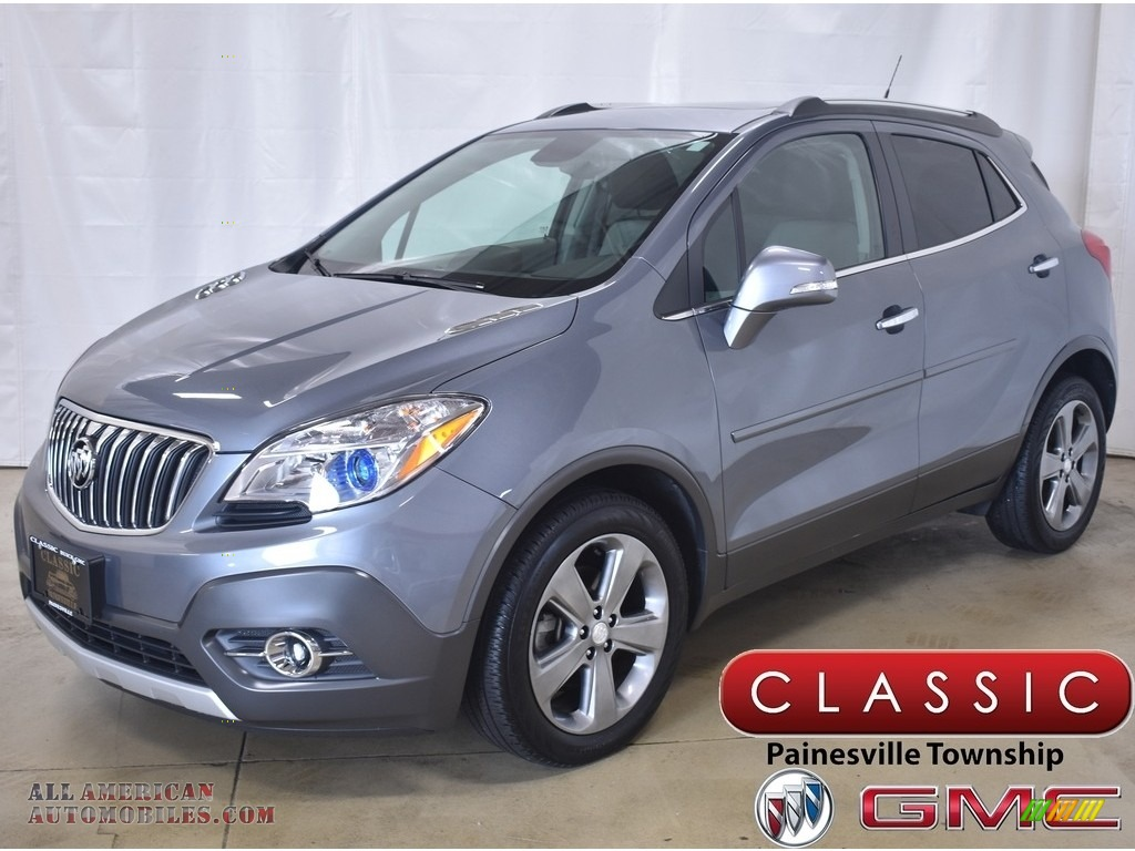 Satin Steel Gray Metallic / Titanium Buick Encore Leather
