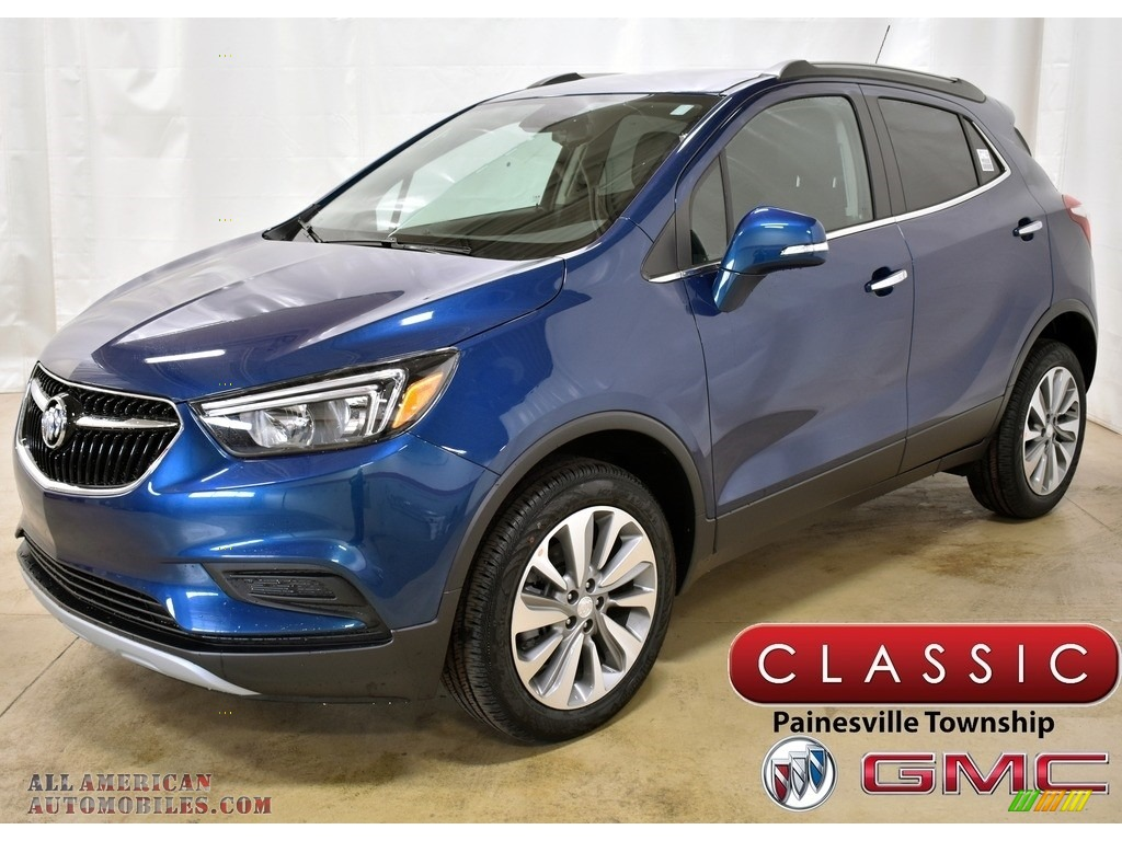 Deep Azure Metallic / Ebony Buick Encore Preferred AWD