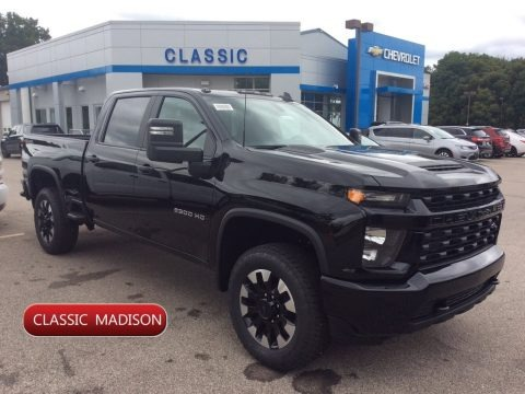 Black 2020 Chevrolet Silverado 2500HD Custom Crew Cab 4x4