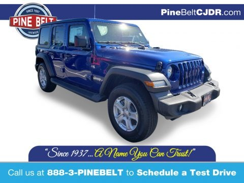 Ocean Blue Metallic 2020 Jeep Wrangler Unlimited Sport 4x4