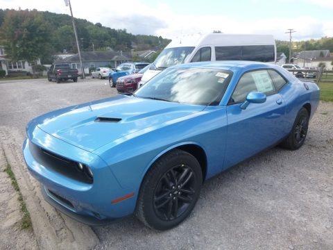 B5 Blue Pearl 2019 Dodge Challenger SXT AWD
