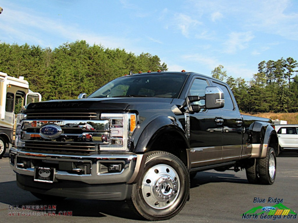 2019 F450 Super Duty King Ranch Crew Cab 4x4 - Agate Black / King Ranch Java photo #1