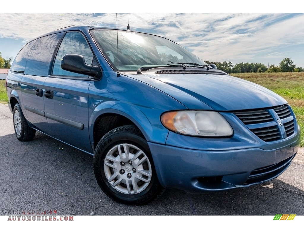 2007 Grand Caravan SE - Modern Blue Pearl / Medium Slate Gray photo #1