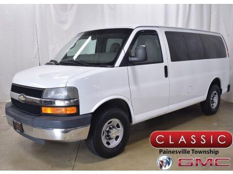 Summit White 2009 Chevrolet Express LT 3500 Passenger Van