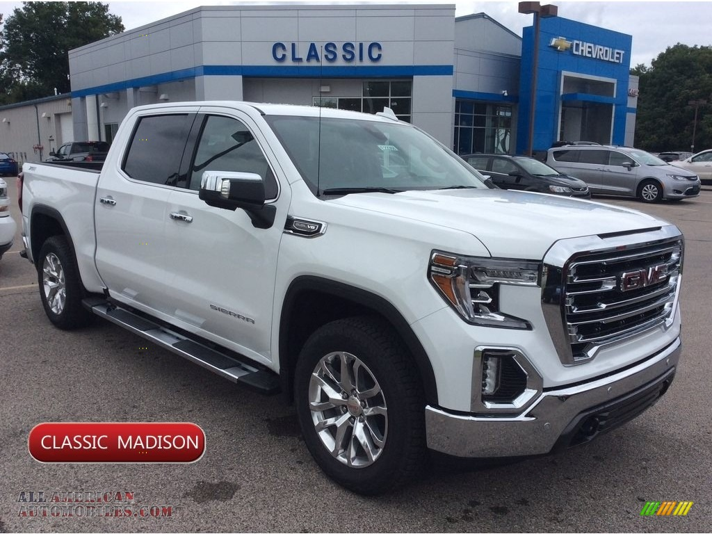 2019 Sierra 1500 SLT Crew Cab 4WD - Summit White / Jet Black photo #1