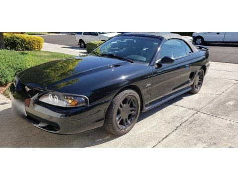 Black 1998 Ford Mustang GT Convertible