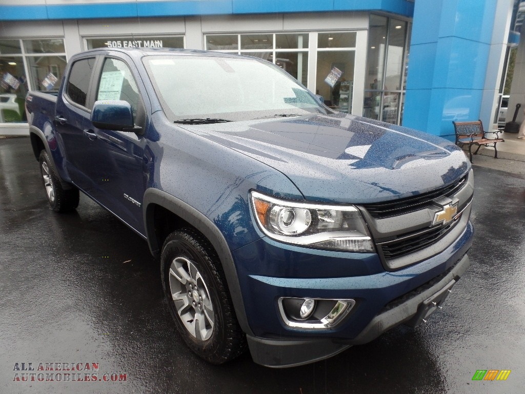 Pacific Blue Metallic / Jet Black Chevrolet Colorado Z71 Crew Cab 4x4