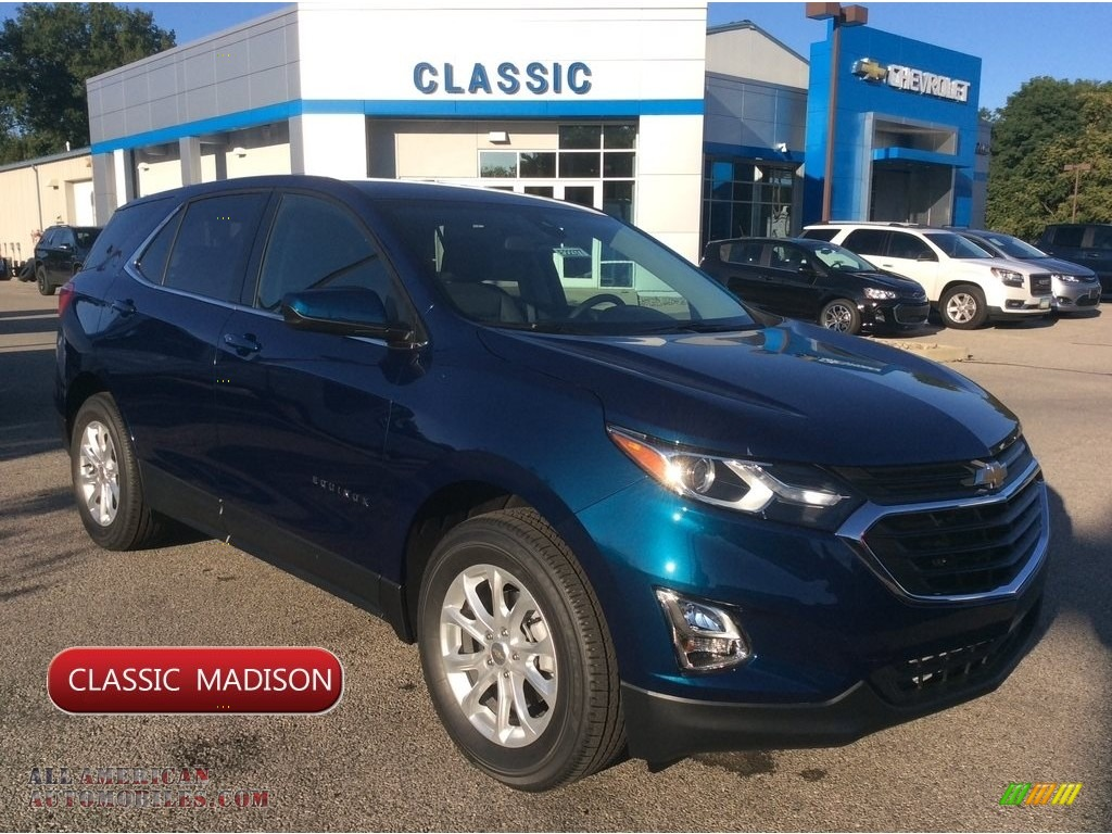 Pacific Blue Metallic / Jet Black Chevrolet Equinox LT AWD