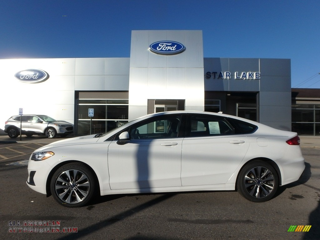 2019 Fusion SE AWD - Oxford White / Ebony photo #1