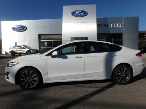Oxford White 2020 Ford Fusion SE AWD