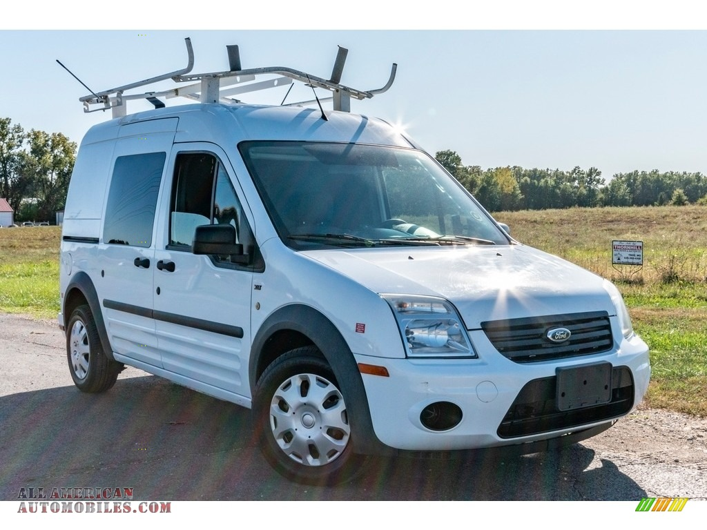 2013 Transit Connect XLT Van - Frozen White / Dark Gray photo #1