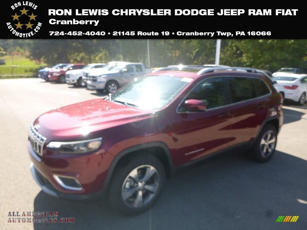 Velvet Red Pearl / Black Jeep Cherokee Limited 4x4