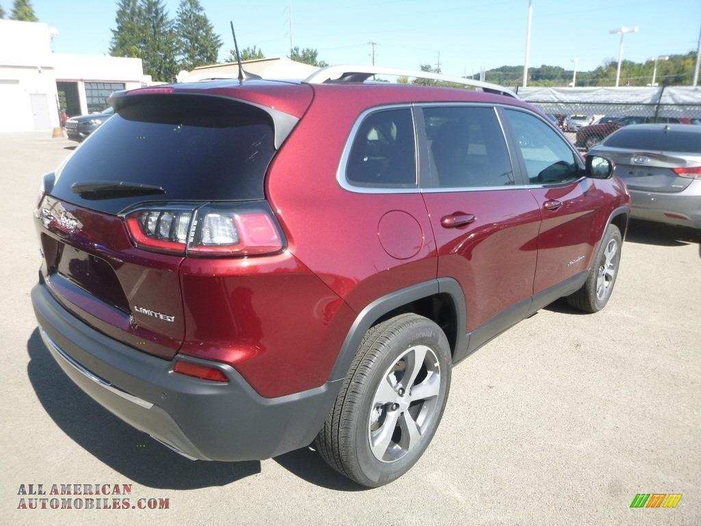 2020 Cherokee Limited 4x4 - Velvet Red Pearl / Black photo #5