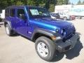 Jeep Wrangler Unlimited Sport 4x4 Ocean Blue Metallic photo #7