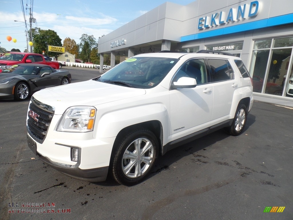 2017 Terrain SLE AWD - White Frost Tricoat / Jet Black photo #1