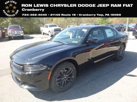Pitch Black 2019 Dodge Charger SXT AWD