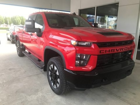 Red Hot 2020 Chevrolet Silverado 2500HD Custom Crew Cab 4x4
