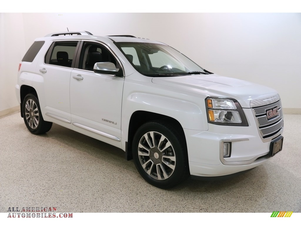 2016 Terrain Denali AWD - White Frost Tricoat / Jet Black photo #1