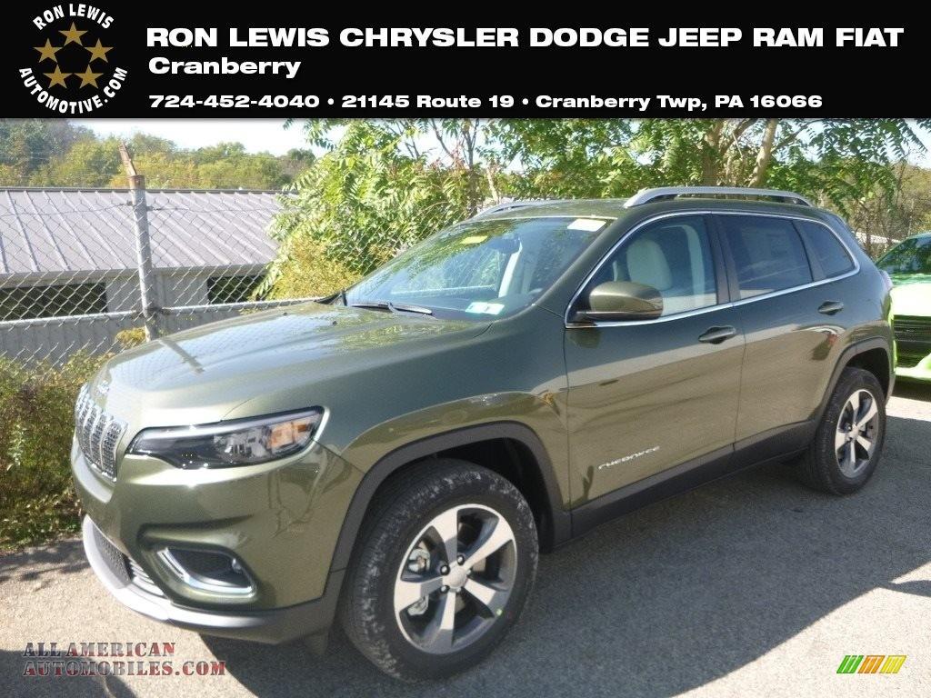 2020 Cherokee Limited 4x4 - Olive Green Pearl / Ski Gray/Black photo #1