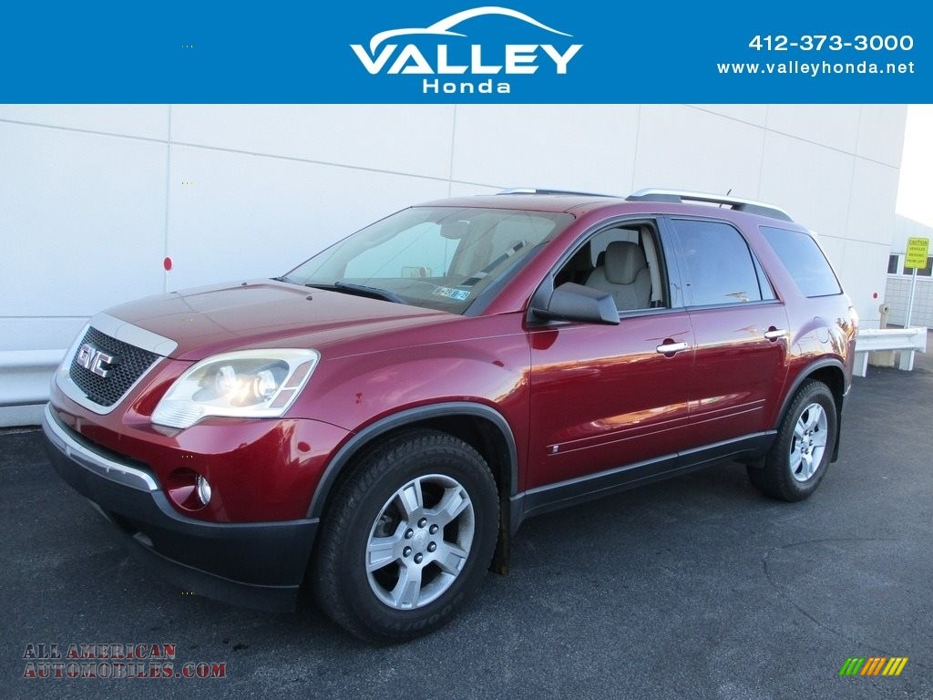 2009 Acadia SLE AWD - Red Jewel / Light Titanium photo #1