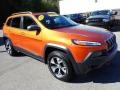 Jeep Cherokee Trailhawk 4x4 Mango Tango Pearl Coat photo #8