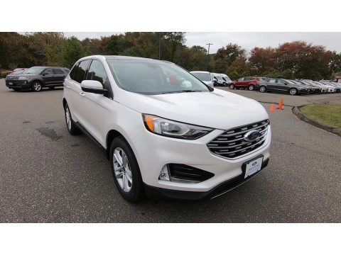 White Platinum 2019 Ford Edge SEL AWD