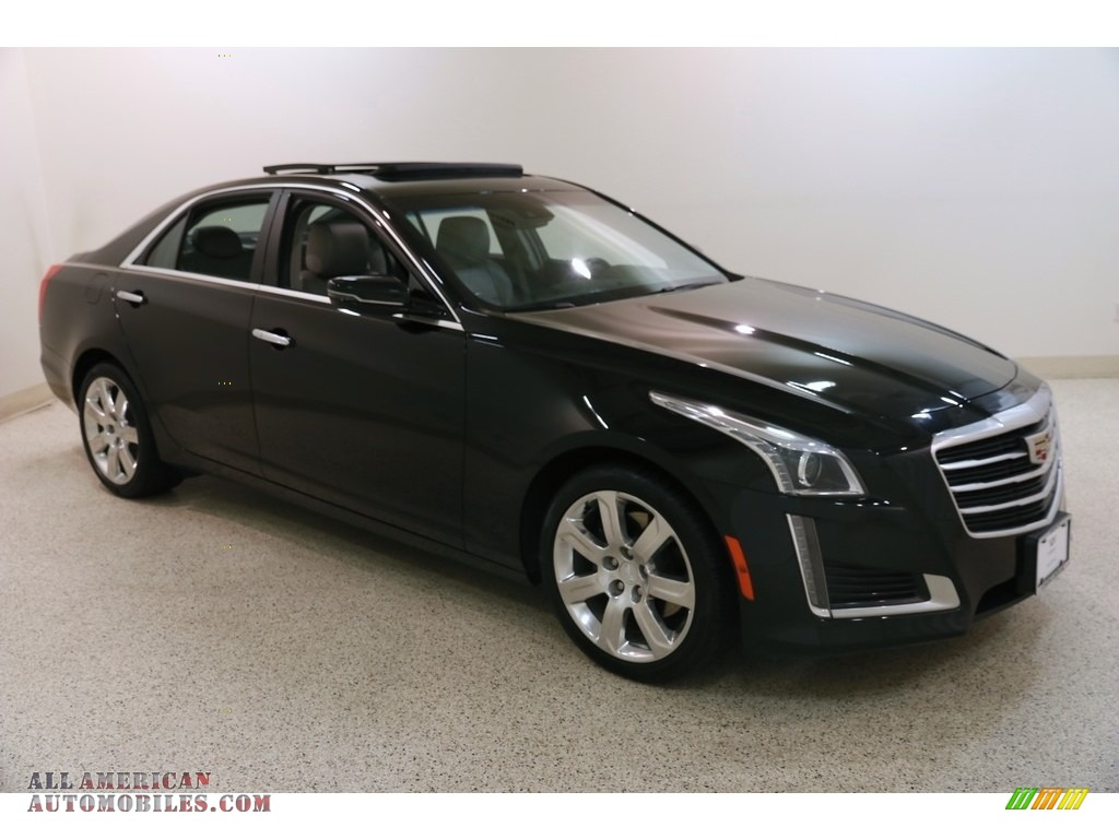 2016 CTS 2.0T Luxury AWD Sedan - Stellar Black Metallic / Light Platinum/Jet Black photo #1