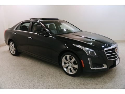 Stellar Black Metallic 2016 Cadillac CTS 2.0T Luxury AWD Sedan