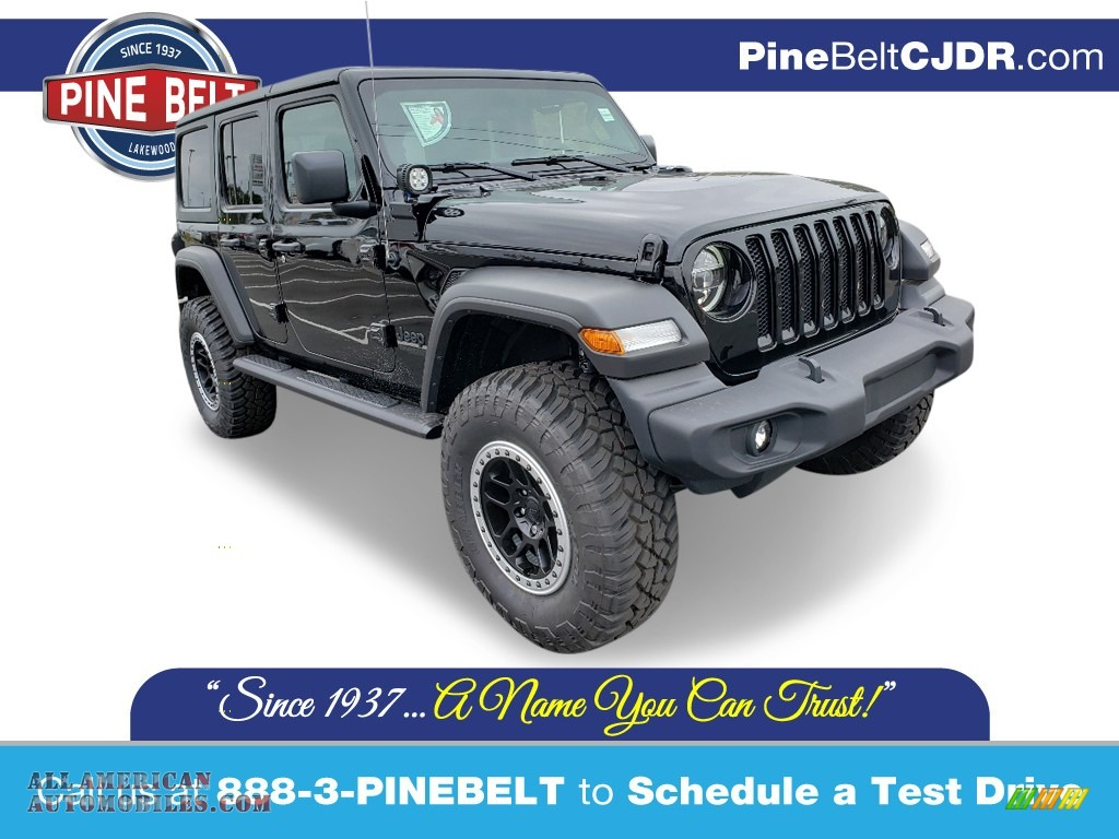 2020 Wrangler Unlimited Sport 4x4 - Black / Black photo #1