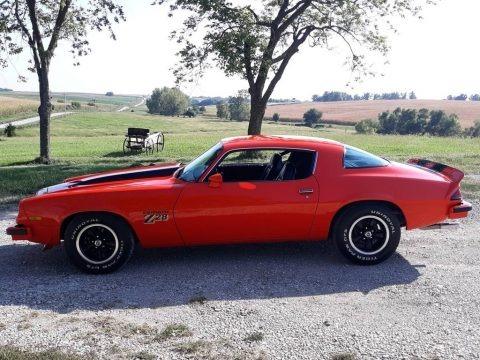 Orange 1977 Chevrolet Camaro Z28 Coupe