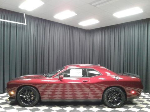 Octane Red Pearl 2019 Dodge Challenger R/T Scat Pack Stars and Stripes Edition