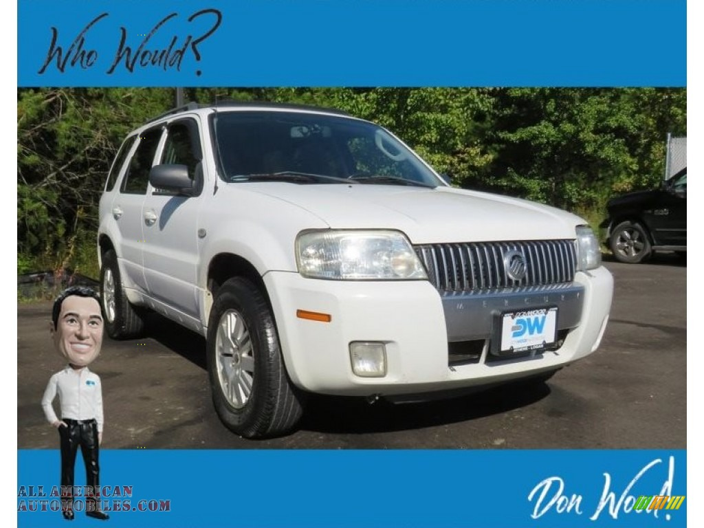 2006 Mariner Luxury 4WD - Oxford White / Pebble/Light Parchment photo #1