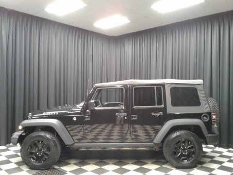 Black 2016 Jeep Wrangler Unlimited Willys Wheeler 4x4