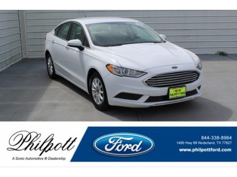 Oxford White 2017 Ford Fusion S