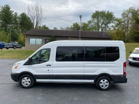 Oxford White 2019 Ford Transit Passenger Wagon XLT 350 MR Long