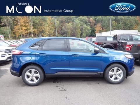 Atlas Blue Metallic 2020 Ford Edge SE AWD