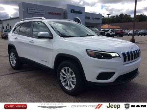 Bright White 2020 Jeep Cherokee Latitude 4x4