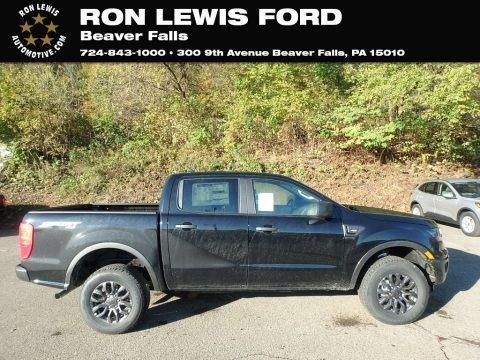 Shadow Black 2019 Ford Ranger XLT SuperCrew 4x4