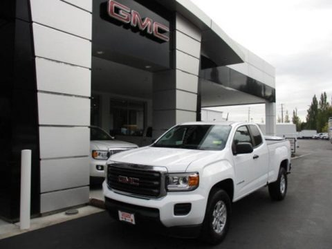 Summit White 2020 GMC Canyon Extended Cab
