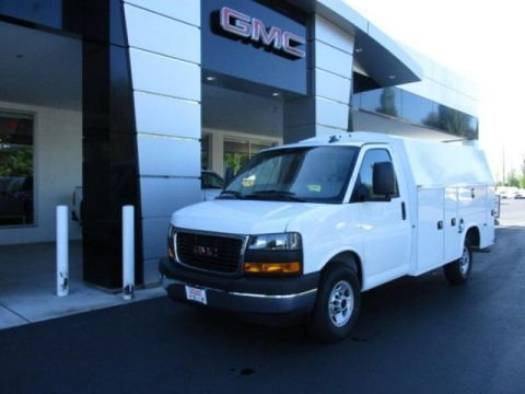 Summit White 2019 GMC Savana Cutaway 3500 Commercial Service Truck