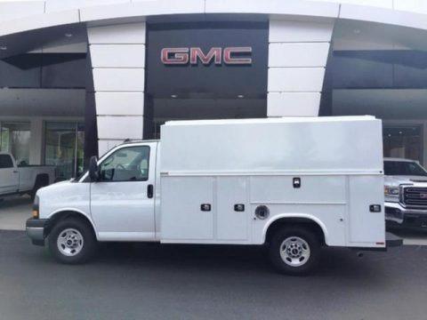 Summit White 2019 GMC Savana Cutaway 3500 Commercial Moving Truck