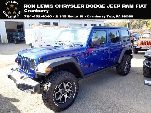 Ocean Blue Metallic 2020 Jeep Wrangler Unlimited Rubicon 4x4