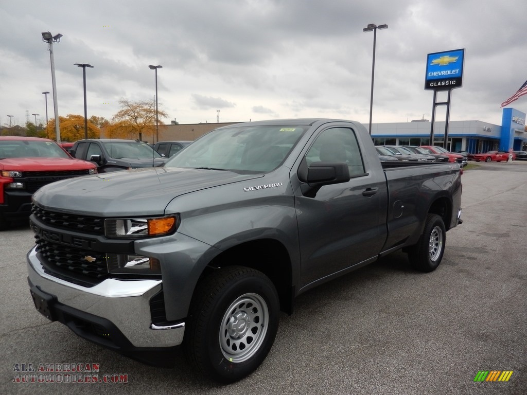 2020 Silverado 1500 WT Regular Cab 4x4 - Satin Steel Metallic / Jet Black photo #1