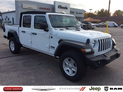 Bright White 2020 Jeep Gladiator Sport 4x4
