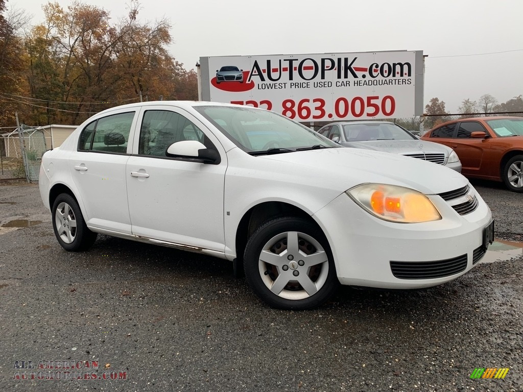2007 Cobalt LT Sedan - Summit White / Gray photo #1