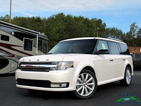 White Platinum 2019 Ford Flex SEL AWD