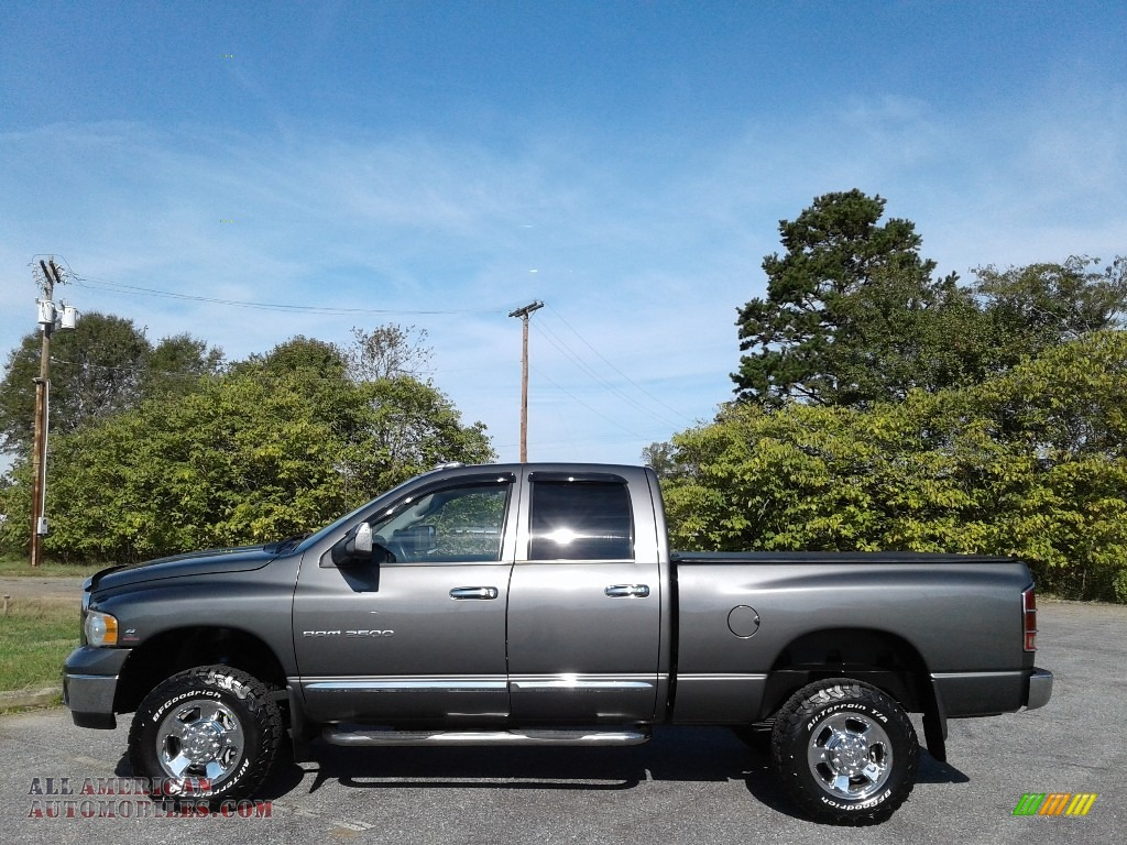 2004 Ram 2500 SLT Quad Cab 4x4 - Graphite Metallic / Dark Slate Gray photo #1