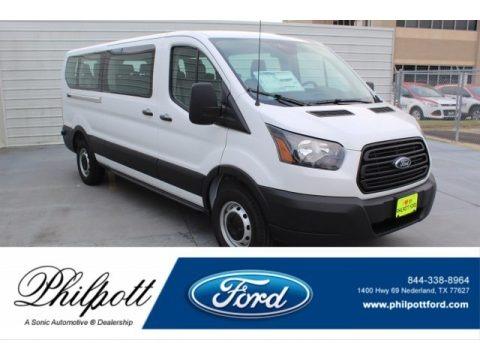 Oxford White 2019 Ford Transit Passenger Wagon XL 350 LR Long